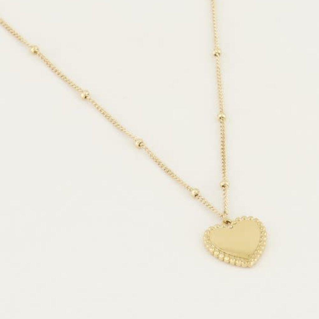 My Jewellery My Jewellery Ketting met Hartje Goud