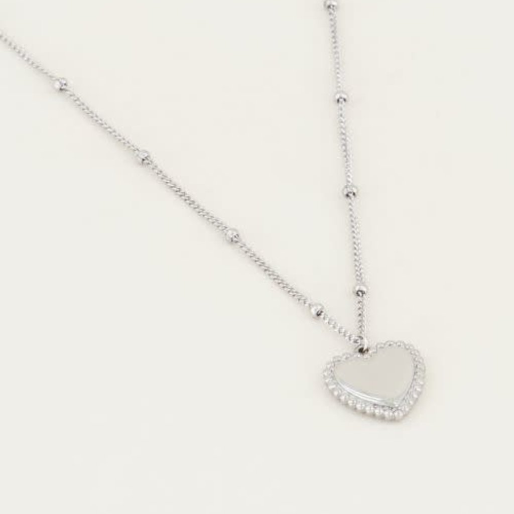 My Jewellery My Jewellery Ketting met Hartje Zilver