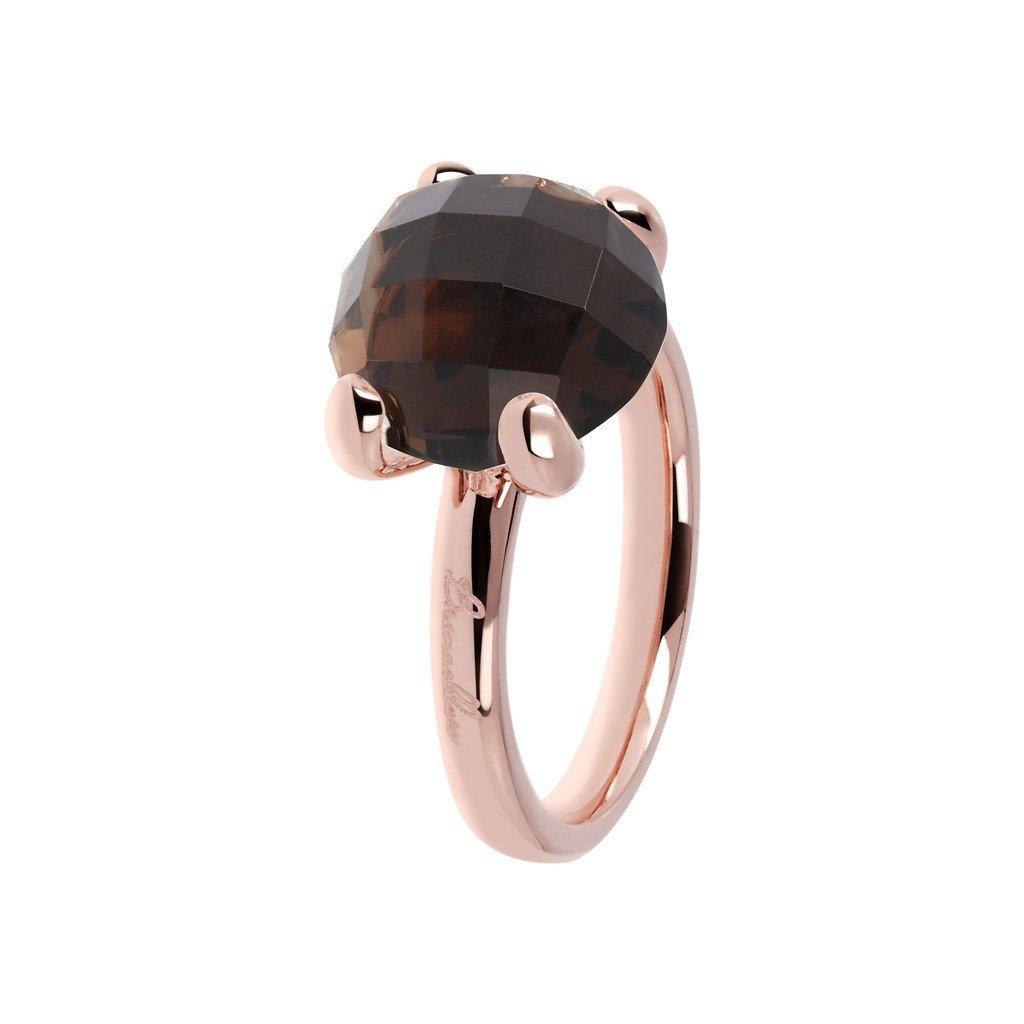 Bronzallure ring 013 Smokey Rosé Gold Plated
