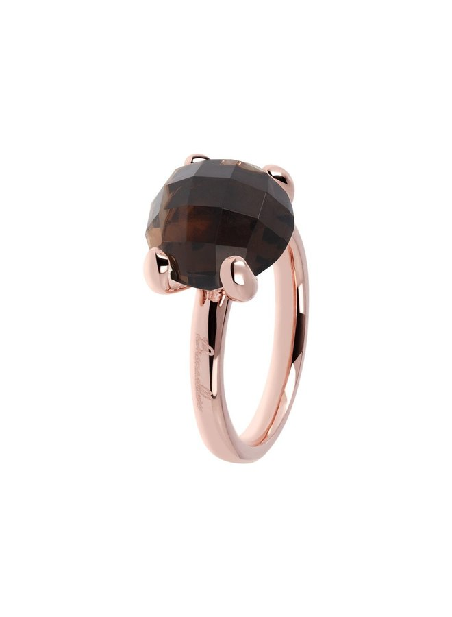 Bronzallure ring 013 Smokey Rosé Gold Plated