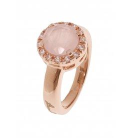 Bronzallure ring 352 Rose Quartz Rosé Gold mt. 19