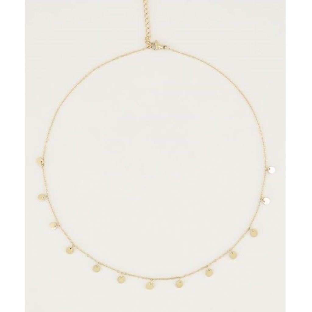 My Jewellery My Jewellery ketting met Kleine Muntjes Goud
