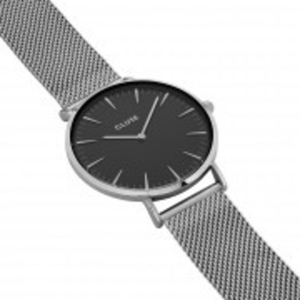 CLUSE CLUSE horloge Boho Chic Mesh Silver/Black