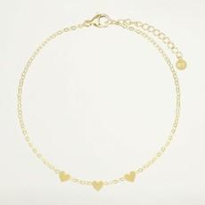 My Jewellery My Jewellery armband Graduation drie hartjes Goud