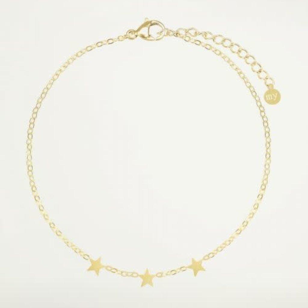 My Jewellery My Jewellery armband Graduation Drie Sterretjes Goud