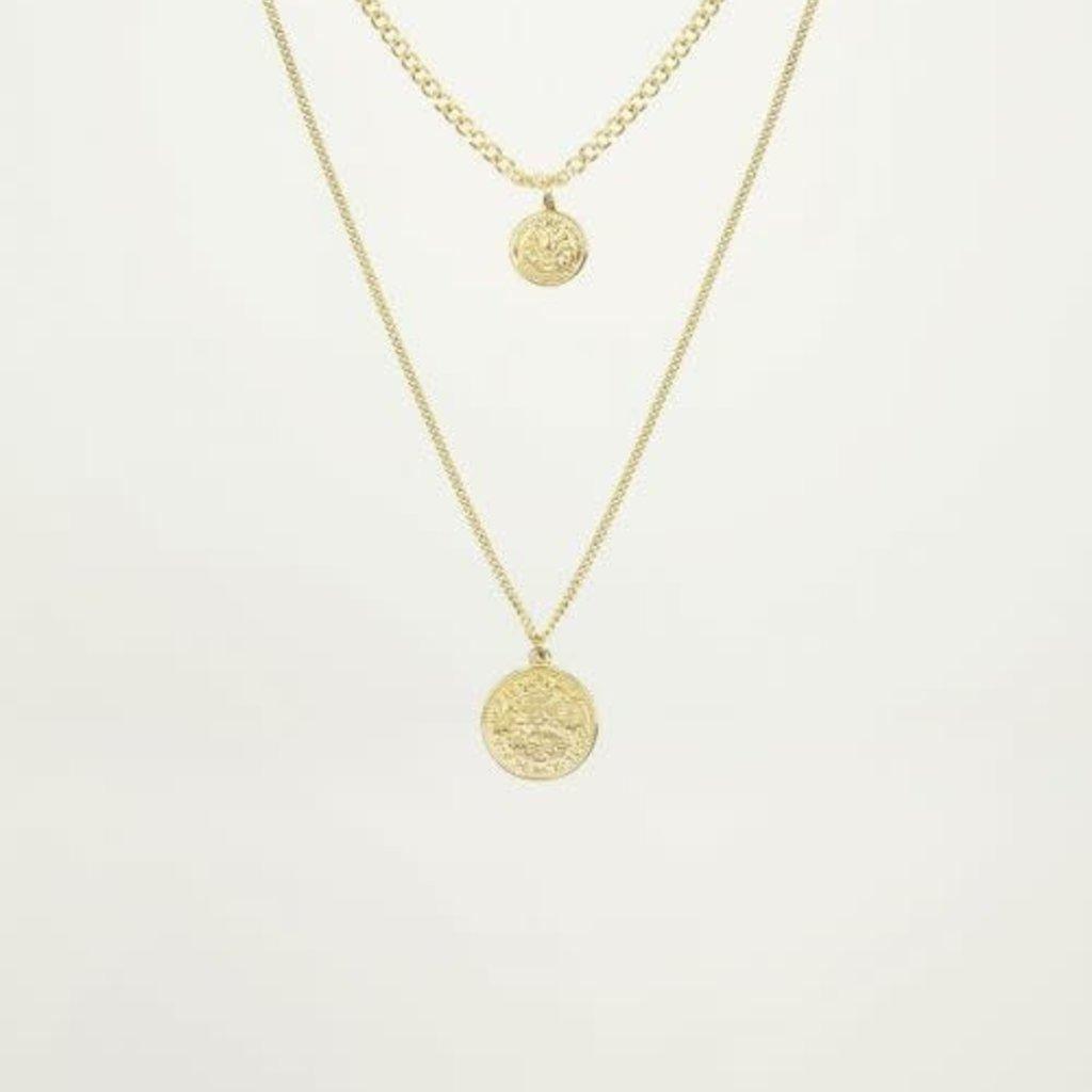 My Jewellery My Jewellery dubbele Ketting 2 muntjes Goud