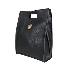 Baggyshop Baggyshop tas Tiger Bag Zwart/Goud maat L