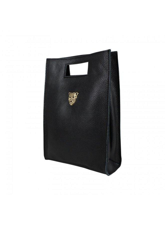Baggyshop tas Tiger Bag Zwart/Goud maat M