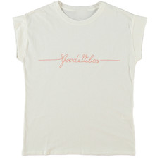 Turquoise by Daan T-shirt Good Vibes White/Peach