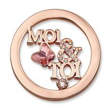 Mi Moneda Mi Moneda munt Moi & Toi Rose Gold Plated S
