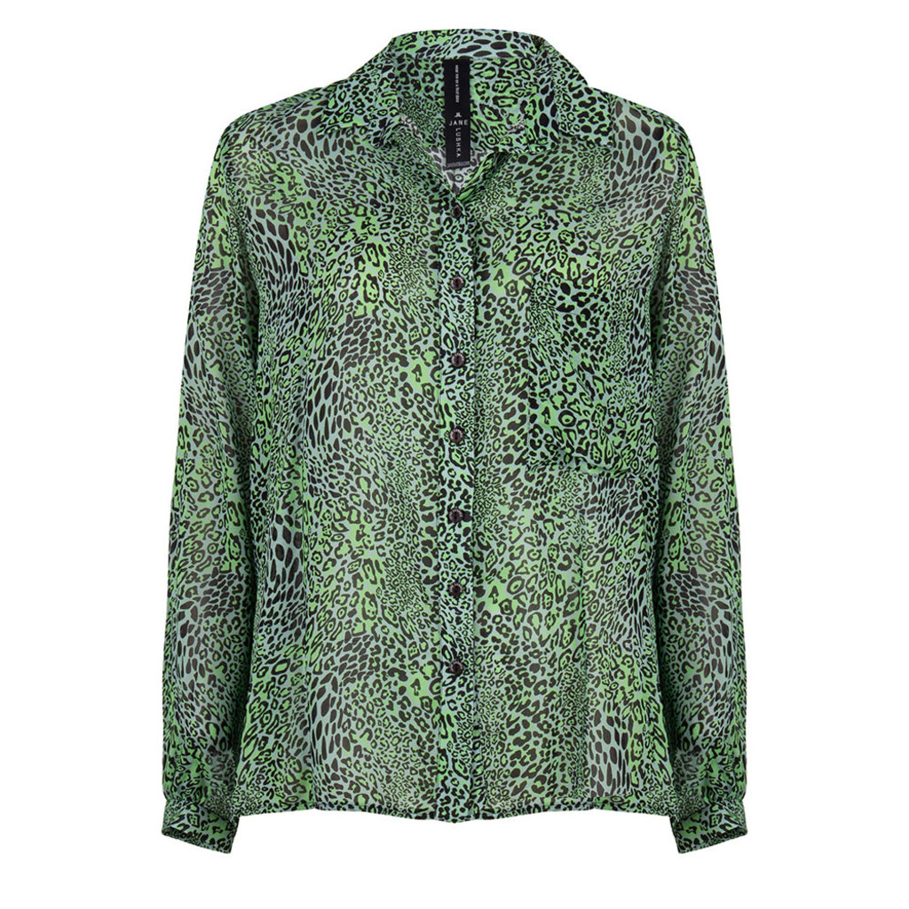 Jane Lushka Jane Lushka blouse CL720SS10P Alexis Animal Green