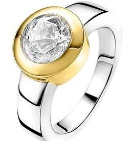 Zinzi Zinzi Wissel ring incl. 5 Zirkonia Zilver/Goud