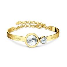 Mi Moneda Mi Moneda armband Cambio Vida Gold Plated