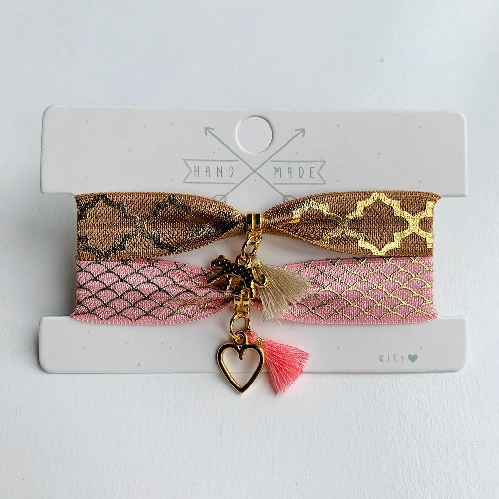 Rubia Jewelz armbandsetje Sisters Heart Pink