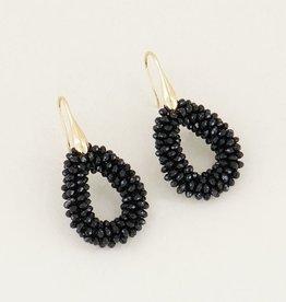 My Jewellery My Jewellery oorbellen Kristal Druppel Zwart