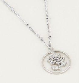 My Jewellery My Jewellery ketting Rond Roosje Zilver