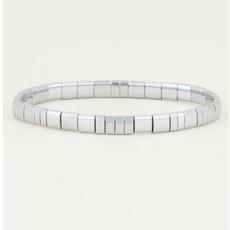 My Jewellery My Jewellery armband Platte kralen Zilver