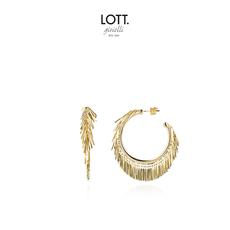 LOTT. Gioielli LOTT. oorbellen Vibes Creole Round Gold Plated