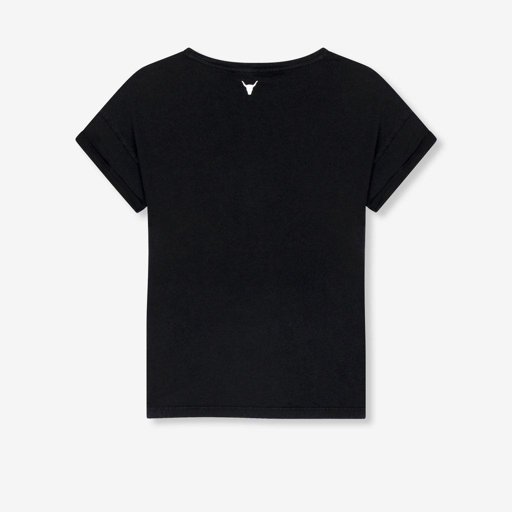ALIX The Label ALIX T-Shirt Vintage Rose Soft Black