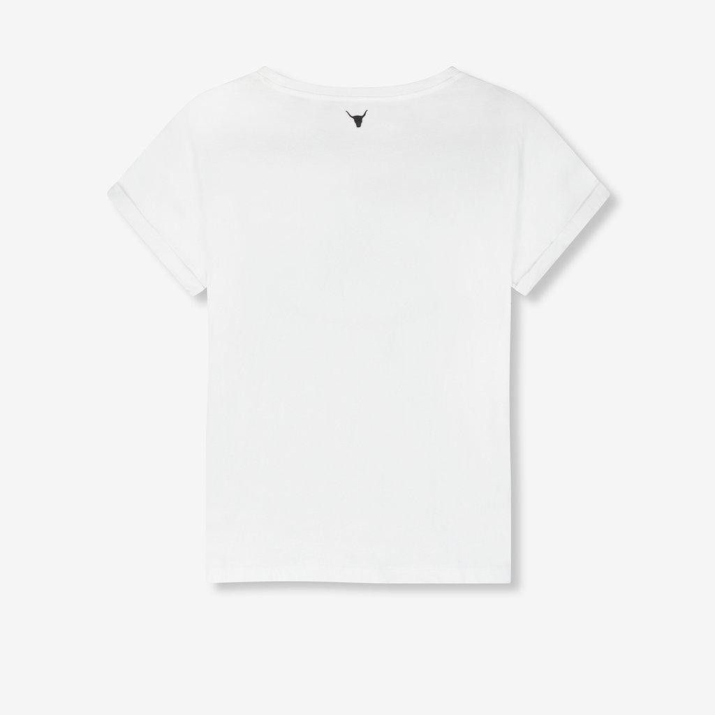 ALIX The Label ALIX T-Shirt Vintage Rose Soft White