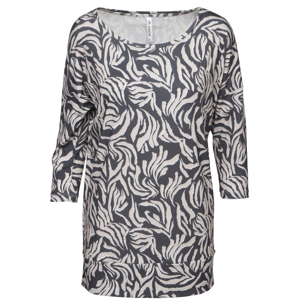 Zoso Zoso blouse Xandra Animal Print Sand