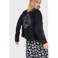 ALIX The Label Alix Jacket Denim Black met Studs