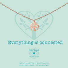 Heart to Get Heart to Get ketting Tree of Live Rosé Gold Plated