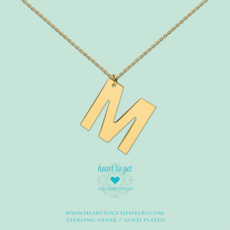 Heart to Get Heart to Get ketting Big Initial M Gold Plated