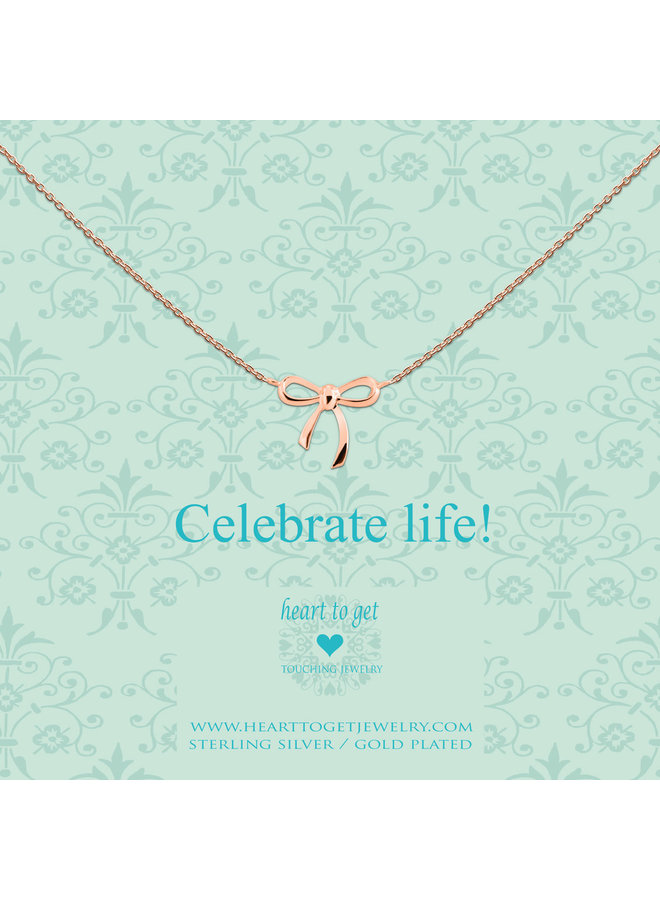 Heart to Get ketting Bow Rosé Gold Plated