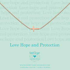 Heart to Get Heart to Get ketting Cross Rosé Gold Plated