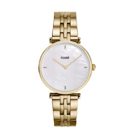 CLUSE CLUSE horloge Triomphe Gold/White Pearl