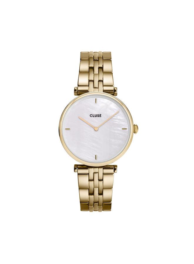 CLUSE horloge Triomphe Gold/White Pearl