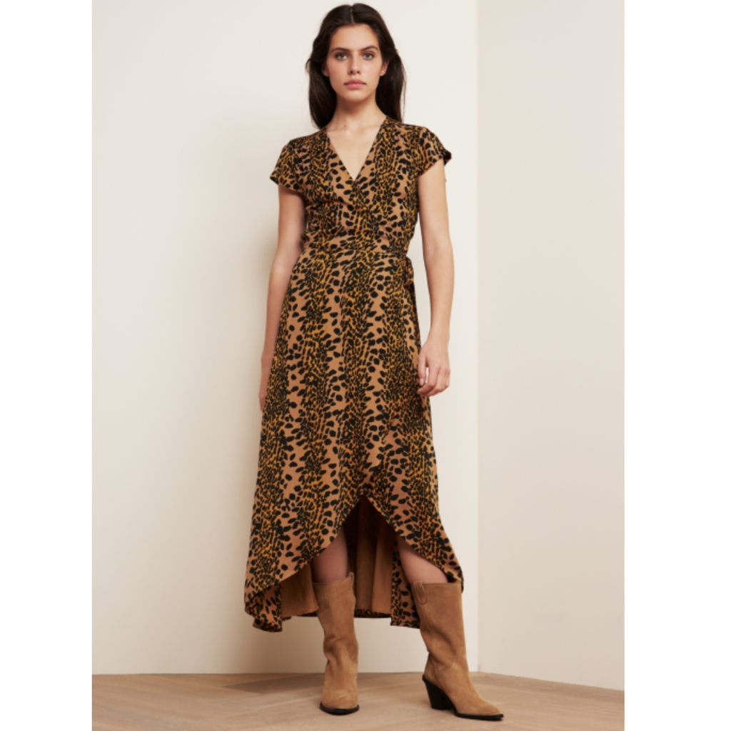 Fabienne Chapot Fabienne Chapot Jurk Archana Retro Panther Brown/Black