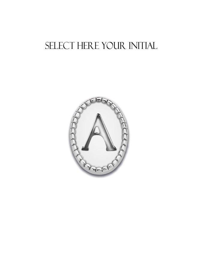 Mi Moneda Icons Initial Silver K