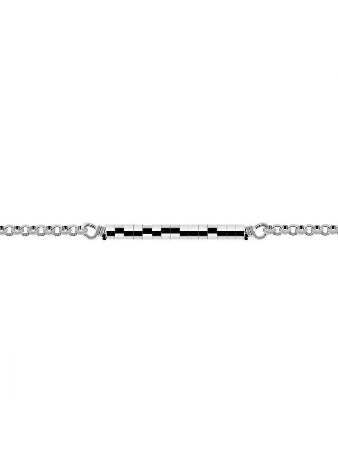 Mi Moneda ketting Evita Silver 90 cm