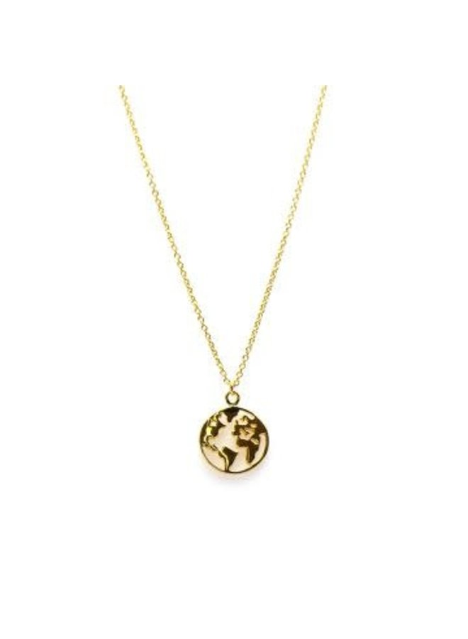 Karma ketting Earth Gold Plated