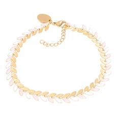iXXXi Jewelry iXXXi armband Malediven Pink/Gold Plated