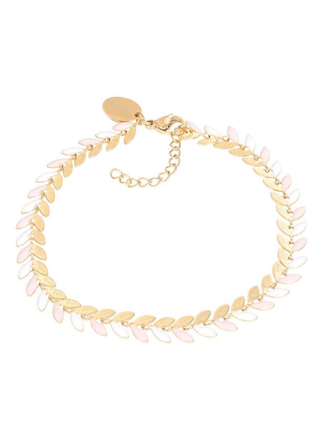 iXXXi armband Malediven Pink/Gold Plated