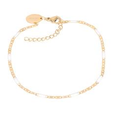 iXXXi Jewelry iXXXi armband Curacao White/Gold Plated