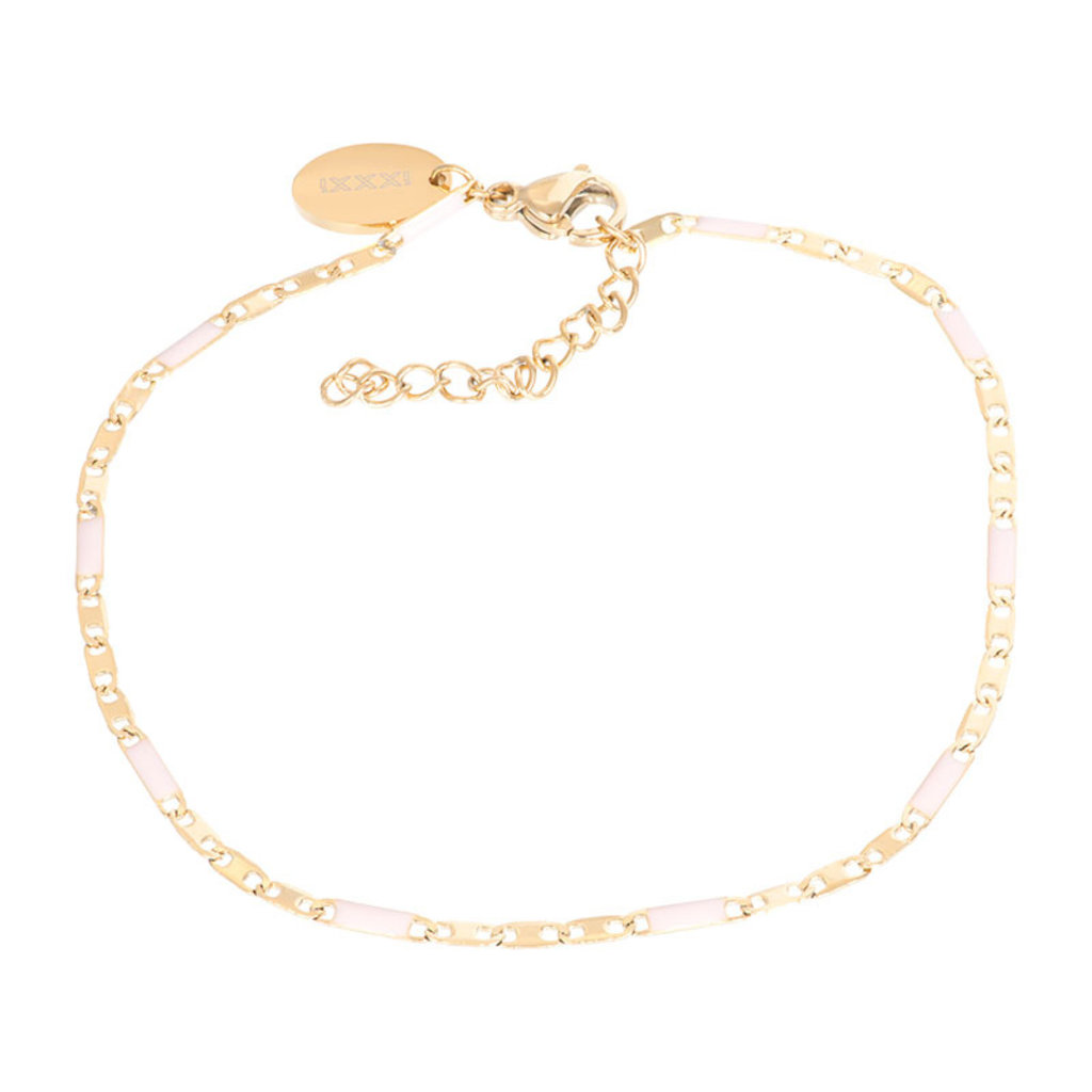 iXXXi Jewelry iXXXi armband Curacao Pink/Gold Plated