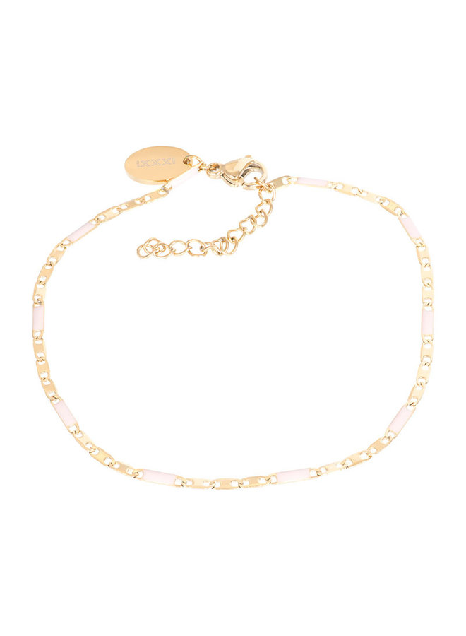 iXXXi armband Curacao Pink/Gold Plated