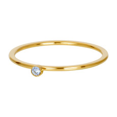 iXXXi Jewelry iXXXi vulring 1 mm Light Saphire 1 Stone Crystal Gold Plated