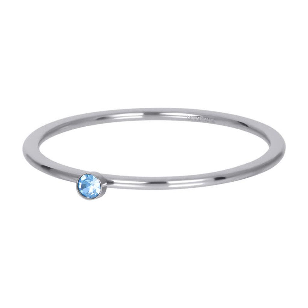 iXXXi Jewelry iXXXi vulring 1 mm Light Saphire 1 Stone Crystal Silver