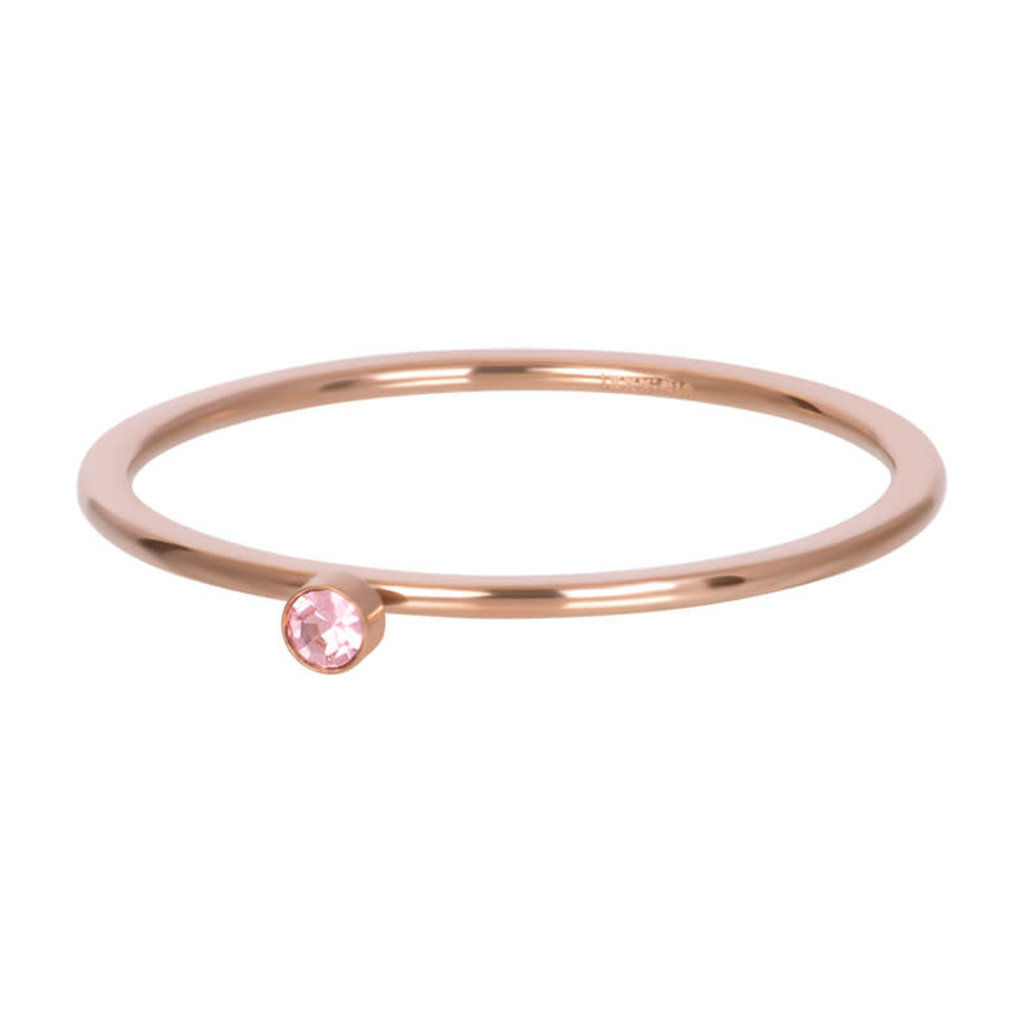 iXXXi Jewelry iXXXi vulring 1 mm Pink 1 Stone Crystal Rosé Gold Plated