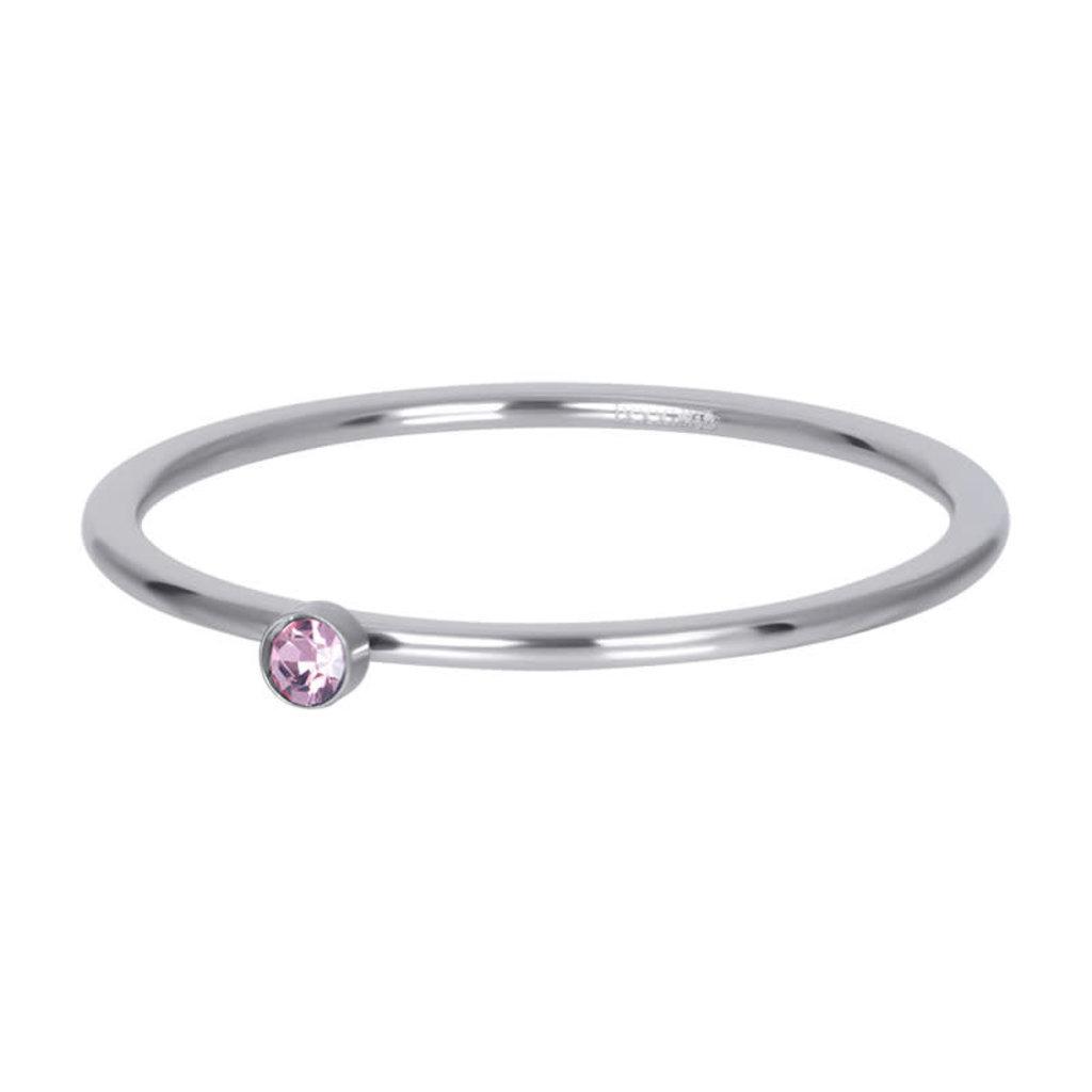 iXXXi Jewelry iXXXi vulring 1 mm Pink 1 Stone Crystal Silver