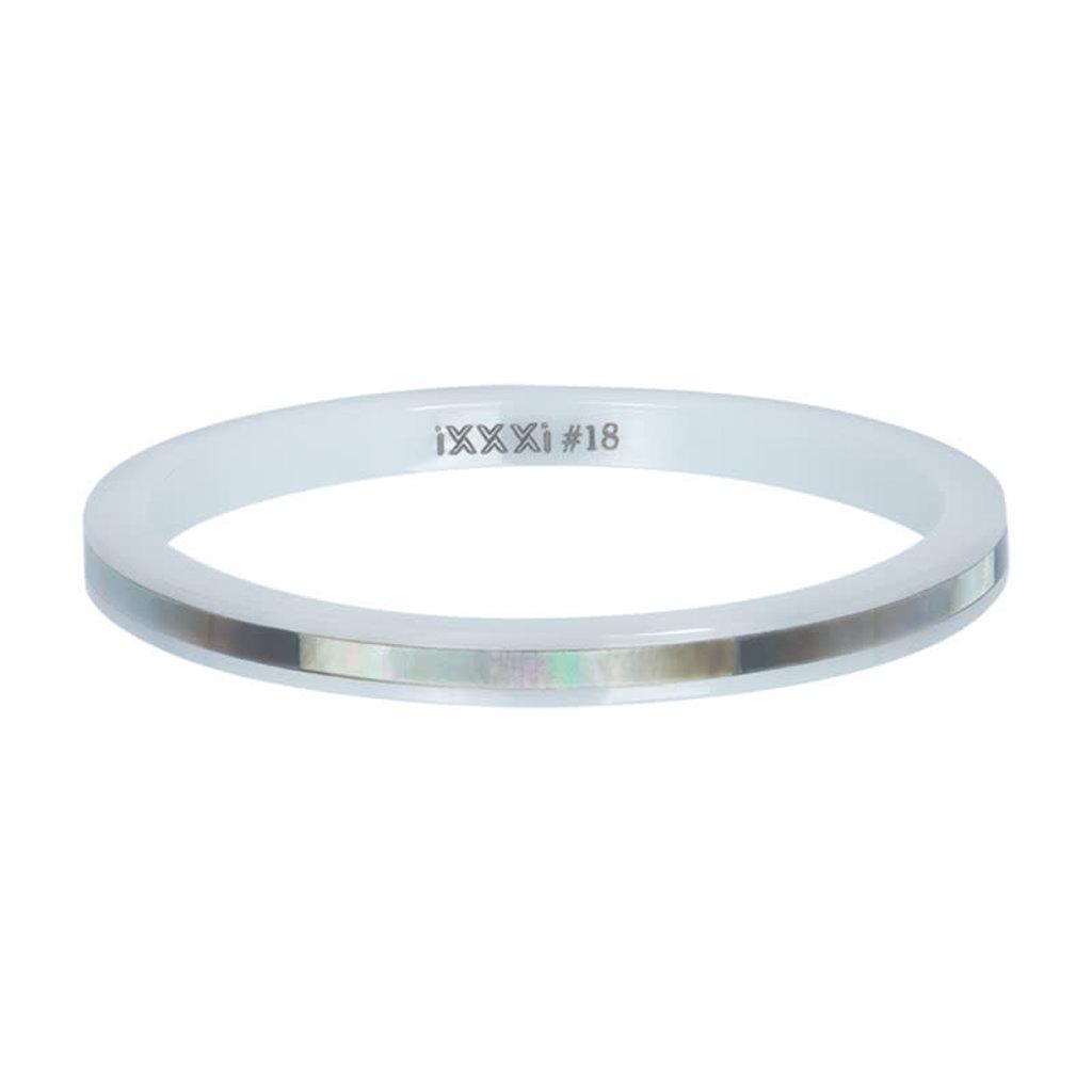 iXXXi Jewelry iXXXi vulring 2 mm Ceramic Grey Shell White