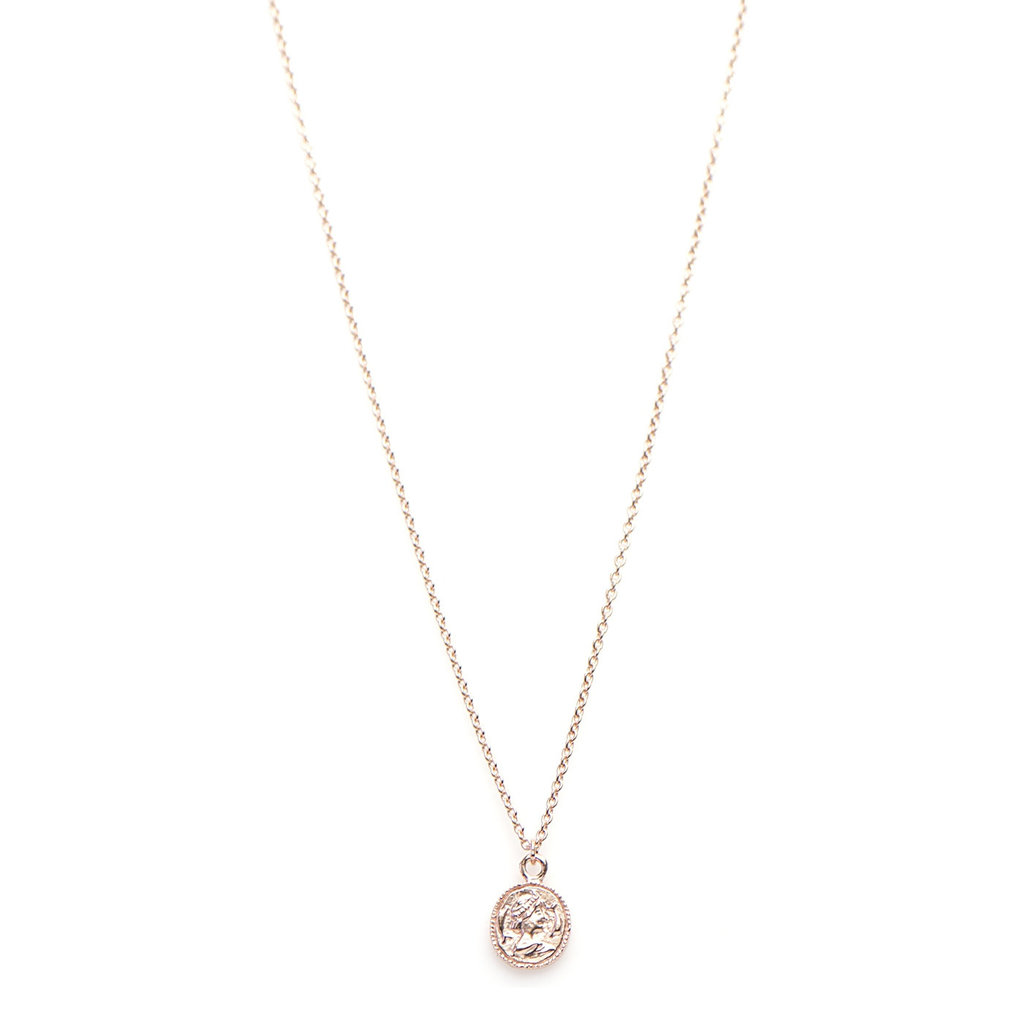 Karma Karma ketting Coin Rosé Gold Plated