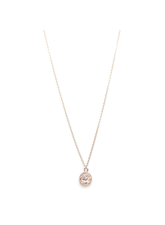 Karma ketting Coin Rosé Gold Plated