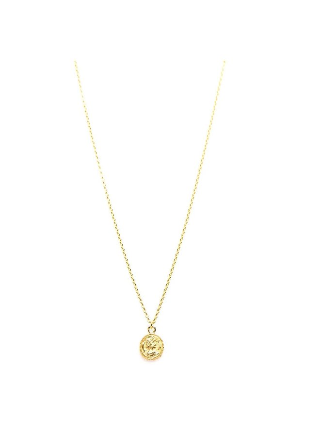 Karma ketting Coin Gold Plated
