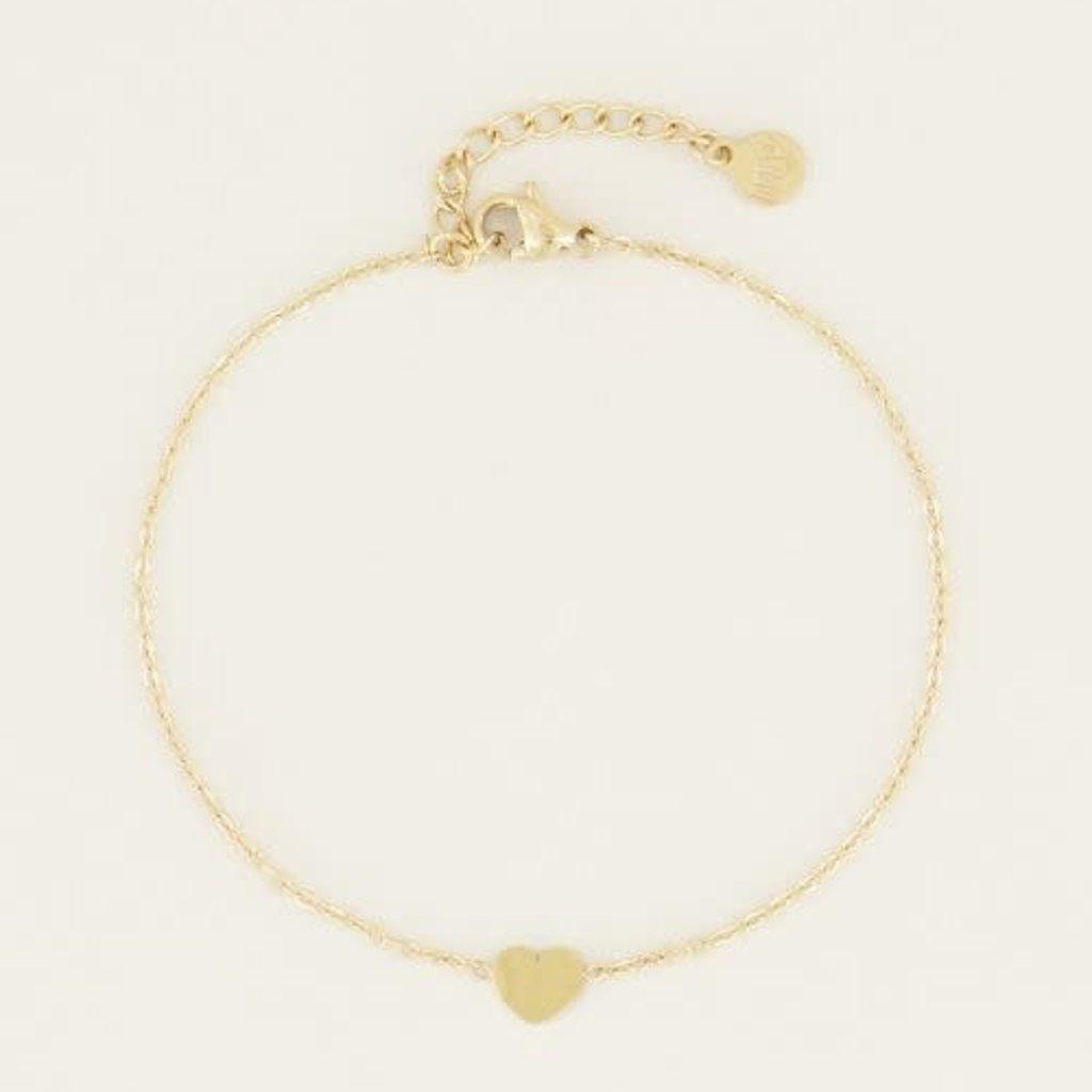 My Jewellery My Jewellery Armband Hartje Goud